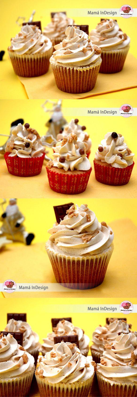 Cupcakes de turrón - Pecados de Reposteria