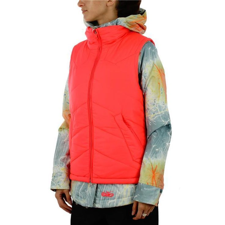 WOMENS 3 IN 1 6.0 BELLEVUE NIKE COAT JACKET VEST XL SNOWBOARD ORANGE GRAY SKI #Nike