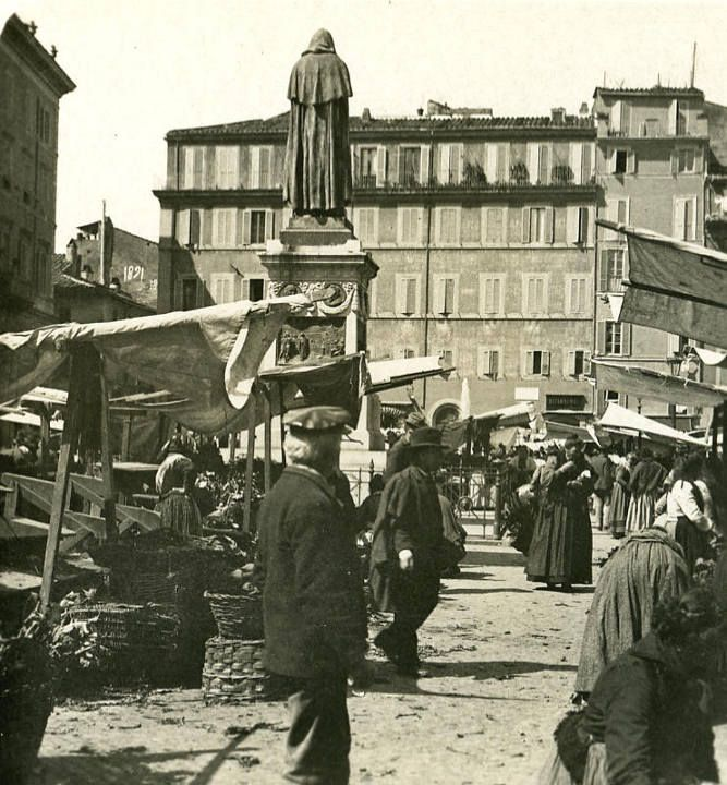 The market of Campo de 'Fiori  1900
