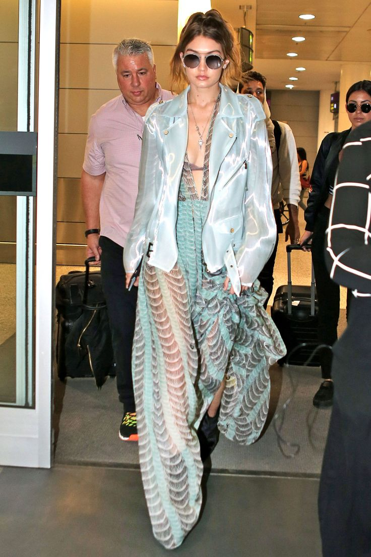 Gigi Hadid Basically Wore the Naked Version of a Princess Gown to the Airport