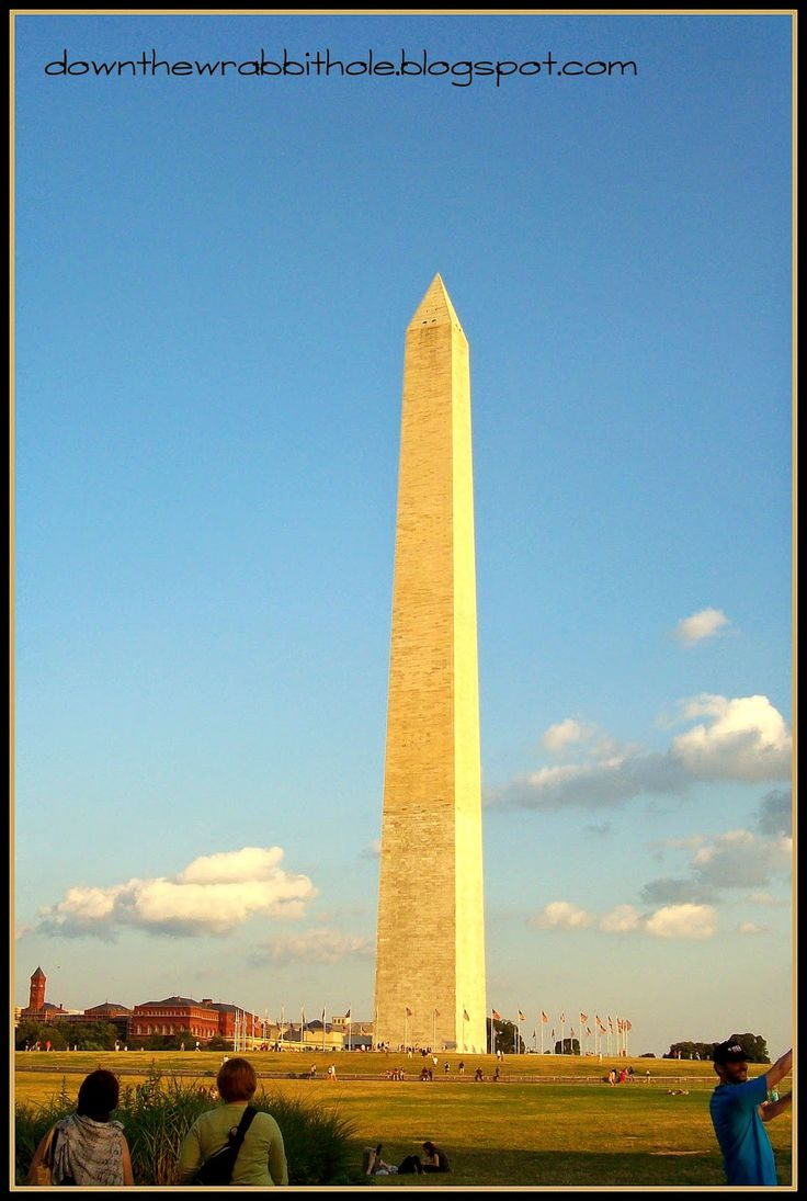 "Visit the National Mall and ride to the top of the Washington Monument. Find out more at ""Down the Wrabbit Hole - The Travel Bucket List"". Click the image for the blog post."