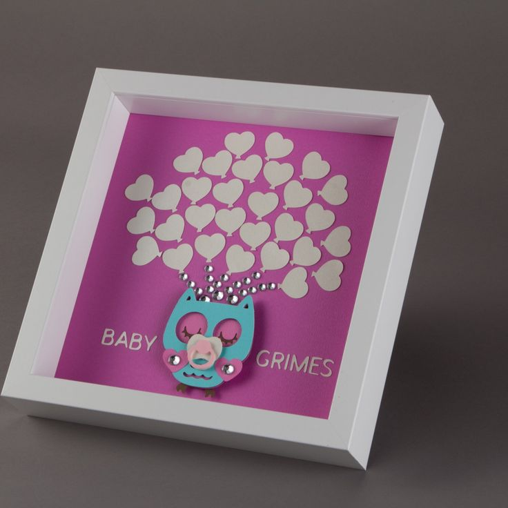framed baby shower owl guest book alternative 30 heart balloons