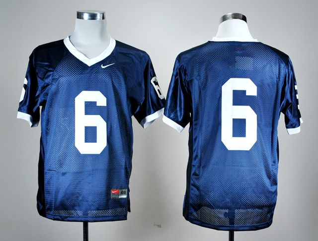 Men's NCAA Penn State Nittany Lions #6 Navy Blue Jersey