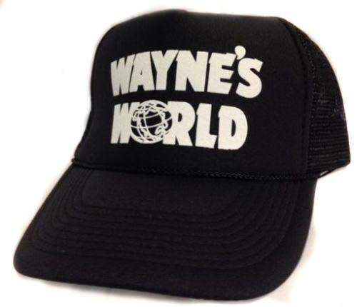 Wayne's World Trucker Hat Mesh Hat  Snap Back Hat  by MESHHATCOM