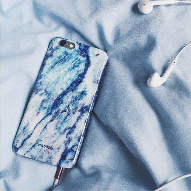Fancy - Blue Galaxy Marble Phone Case by Madotta