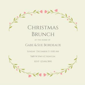 Best Christmas Invitation Templates Images On