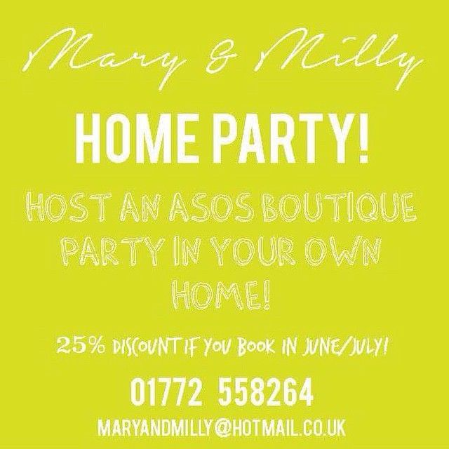 Did you know that Mary & Milly host home parties too?! Book yours today and get amazing discounts on the whole M&M collection!! M&M x