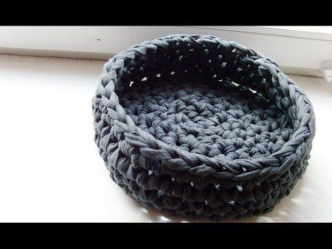 Utensilo / Körbchen häkeln DIY mit Textilgarn (a…