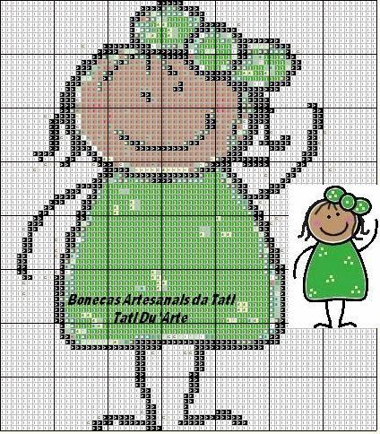 Boneca palito verde | Flickr - Photo Sharing!