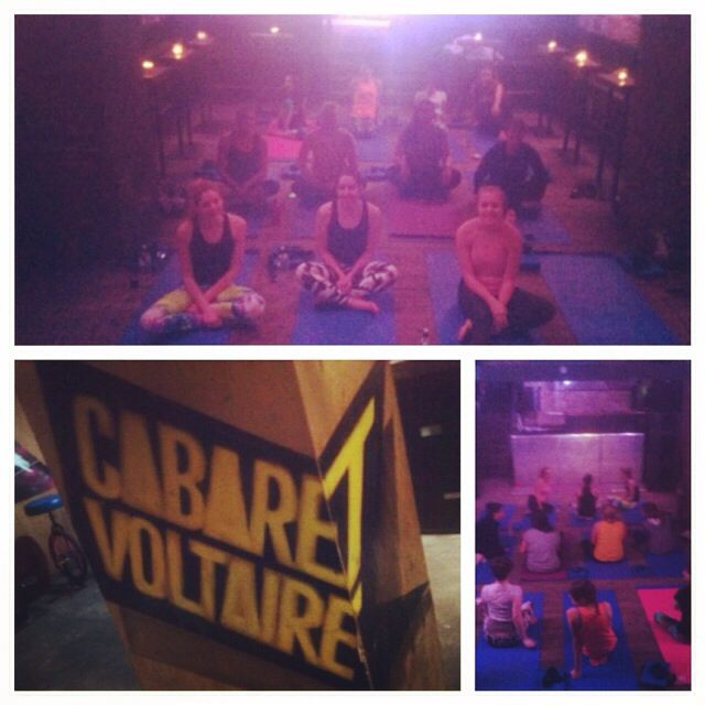 Love teaching the Deep House Yoga Class at Cabaret Voltaire every Thursday! #yoga #edinburgh