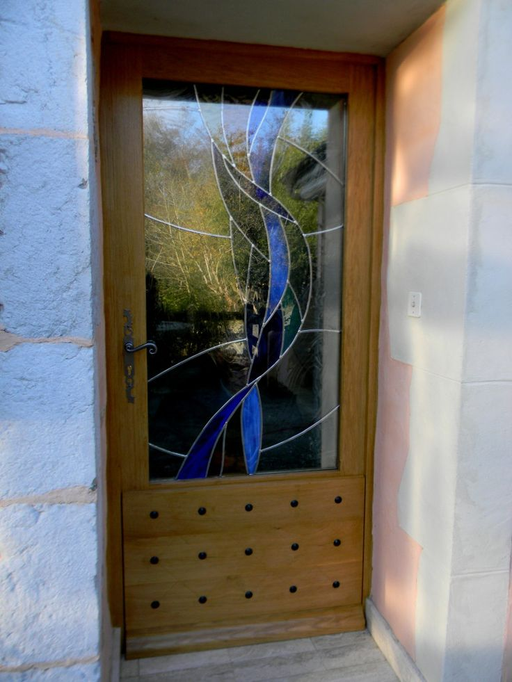 774 best images about stained glass general on pinterest window clings mariners compass and sun - Porte d entree avec vitrail ...