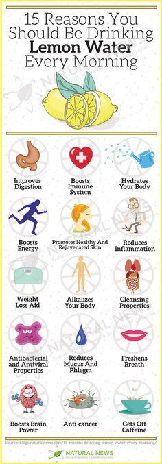 15 Reasons You Should be Drinking Lemon Water Every Morning via Zoe Murphy #holistic #health #healthyhabits