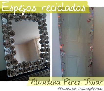 faciles decorar espejos reciclaje