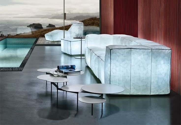 Elegant Air-Filled Sofa Collection Glowing In The Dark by Mario Bellini ~ Luxury Ideas