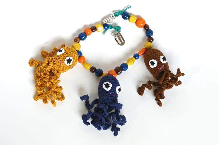 crochet pram chain - hæklet barnevognskæde #obber