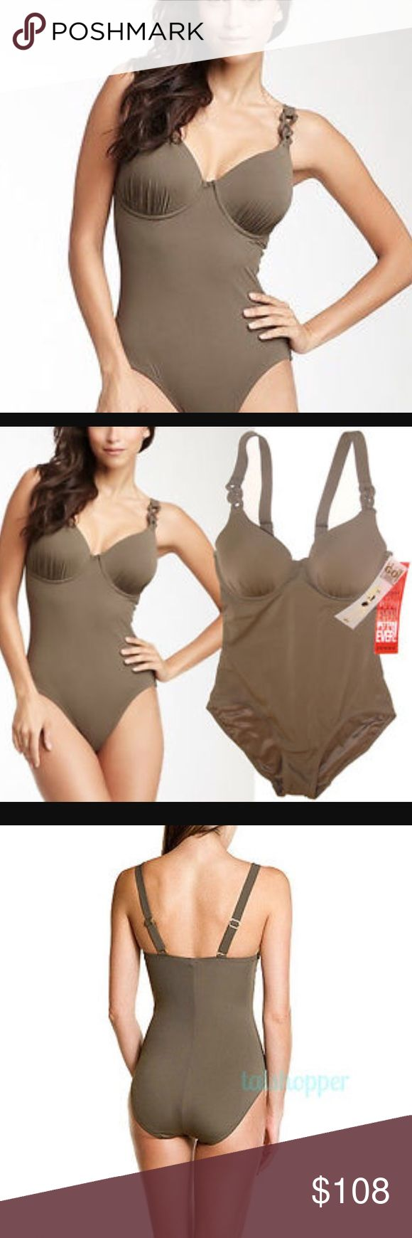 🎉END OF SEASON SALE Spanx shape wear NWT. BOUGHT AND NEVER WORN. Pewter 6D/DD. Most comfortable body shaping ever SPANX Swim One Pieces