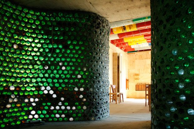 Old materials / new dimensions / Wine bottles