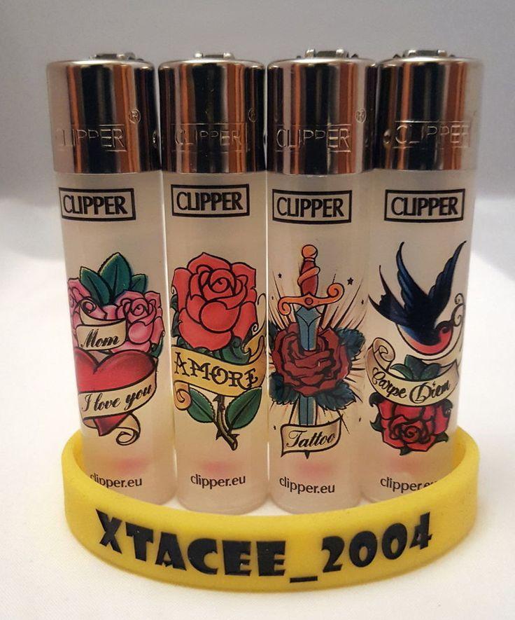 #111 Classic Clipper Lighter Clear Transparent Tattoo Amore Love Single/set