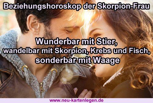 Beziehungshoroskop der Skorpion-Frau!
