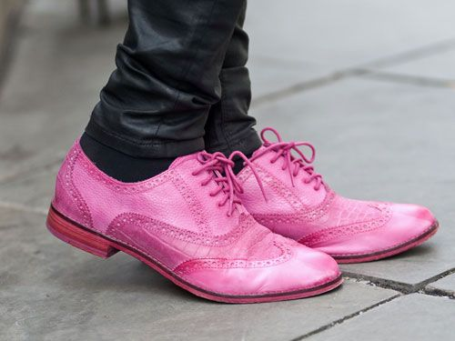 Mens Hot Pink And White Wedding Shoes