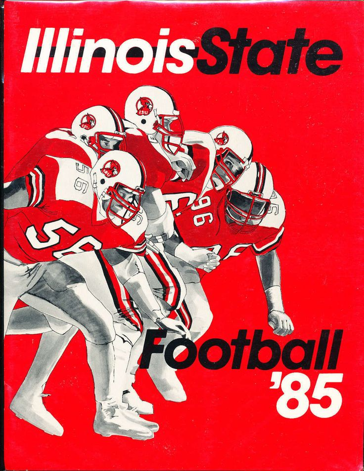 1985 Illinois State University Football Press Media Guide | eBay