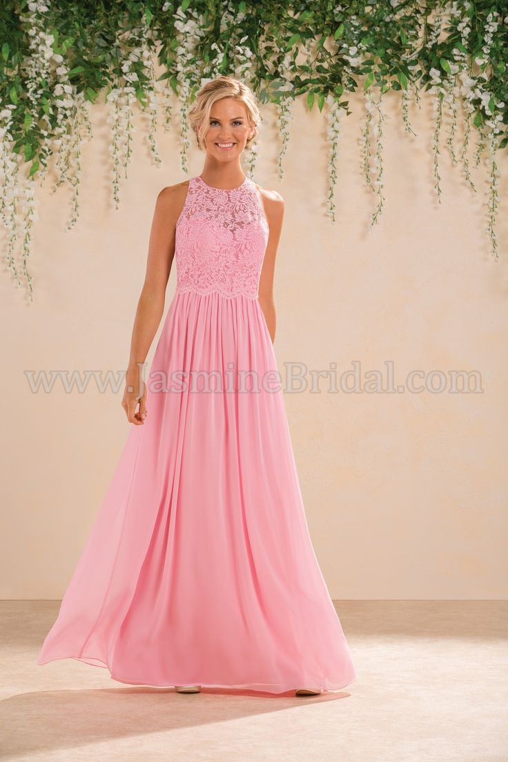 Jasmine Bridal Bridesmaid Dress B2 Style B183017 in Cosmopolitan, Pink //