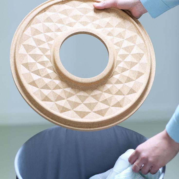 #Laundry Bin with cork lid, 60L - Laundry drying & ironing | #Brabantia