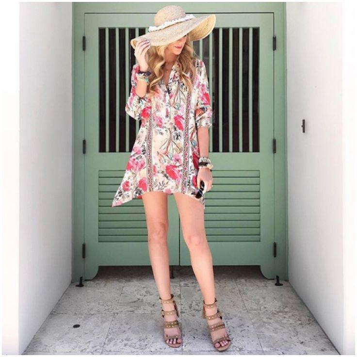 **** LOVE this gorgeous floral dress for Spring Summer.  Pair with your favorite jute hat and sky high espadrilles. Stitch fix fashion trends. Stitch Fix Fall, Stitch Fix Spring Stitch Fix Summer 2016 2017. Stitch Fix Fall Spring fashion. #StitchFix #Affiliate #StitchFixInfluencer