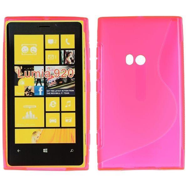 S-Line Läpikuultava (Pinkki) Nokia Lumia 920 Suojakuori