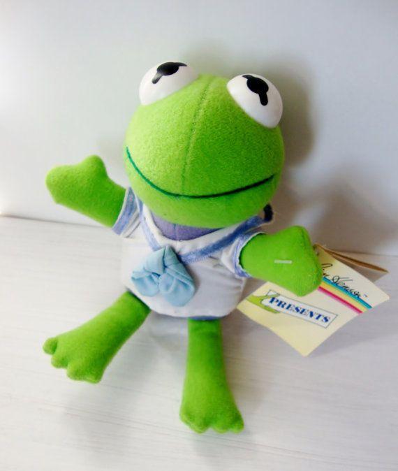 Muppet Vintage bébé Kermit la grenouille en peluche jouet en peluche Animal 1988 Jim Henson Dakin sur Etsy, 4,22€