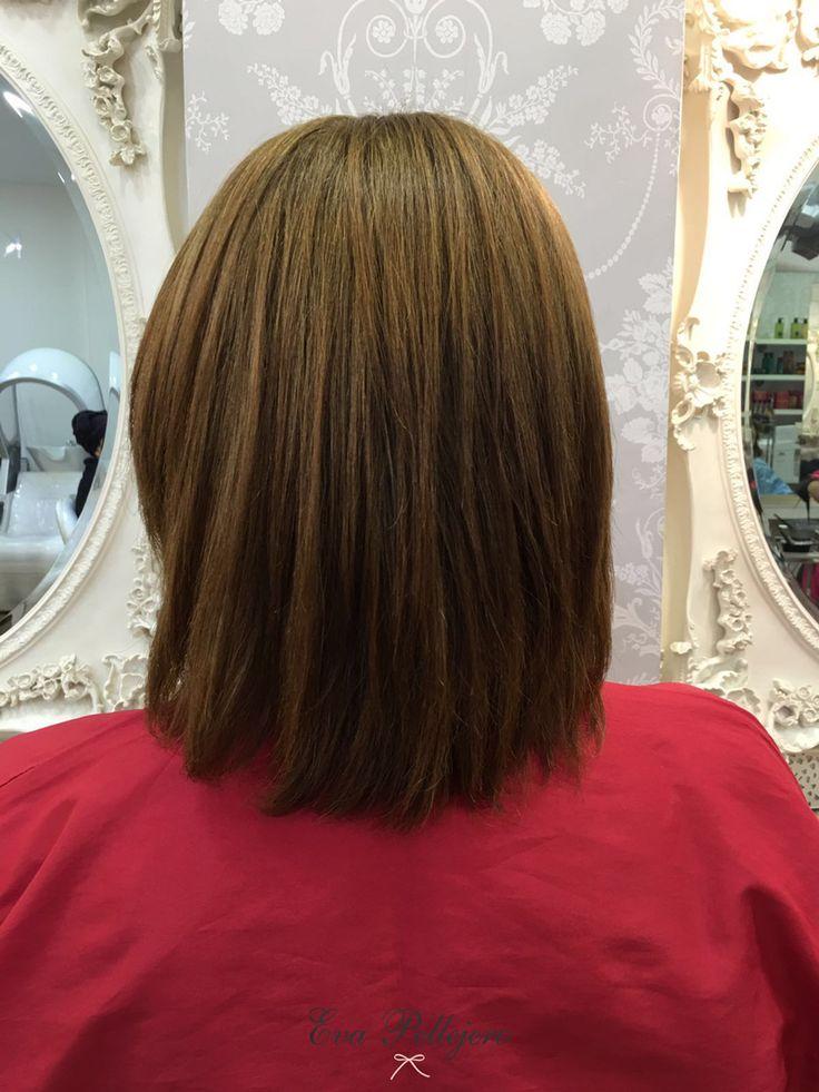 DESPÚES - SECADO AL AIRE Tratamiento Keratina de seda. Controla el volumen y encrespamiento y consigue un cabello disciplinado e hidratado.