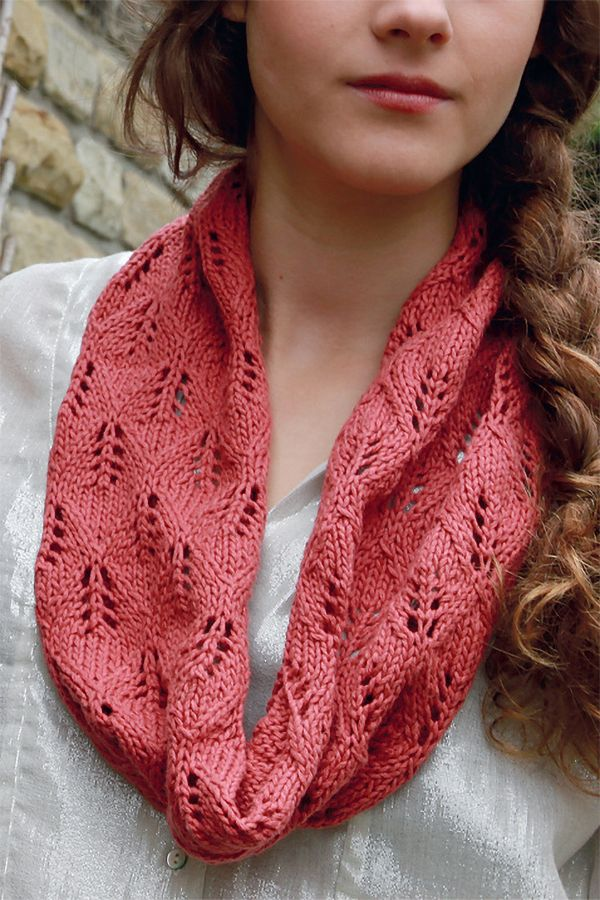Lacy Linen Snood In Rowan Creative Linen Free Knitting Knitting