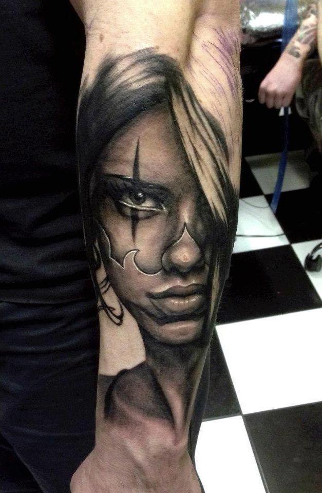 Tattooed Face realistic tattoo   Realistic tattoos ...