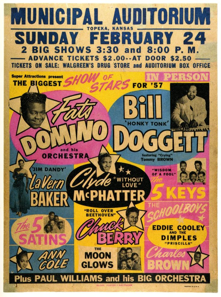 Vintage late 50's Music Poster