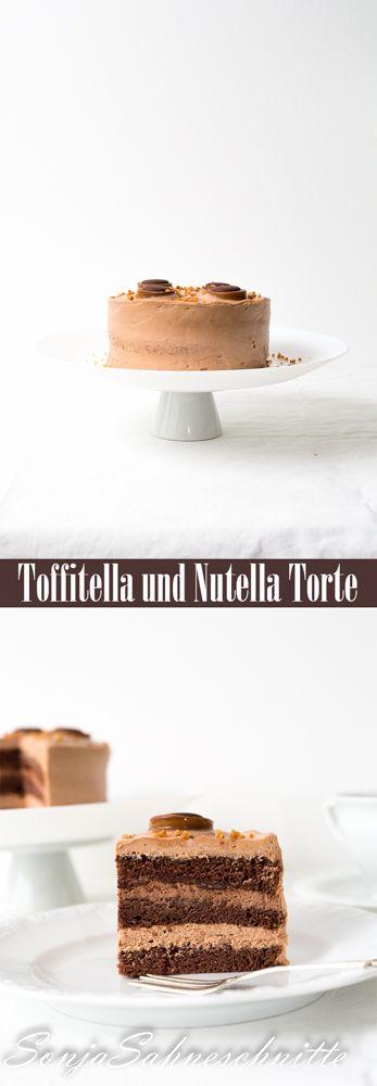 Toffitella-(und Nutella)Torte – Toffitella (and nutella) cake | Süße Sachen selber machen | SonjaSahneschnitte  #cake #foodblog #chocolate #Torte #Toffifee #baking #Nutella #foodphotography #foodblogger #chocolatecake #biskuit #backen #spongecake #Schokolade #kuchen