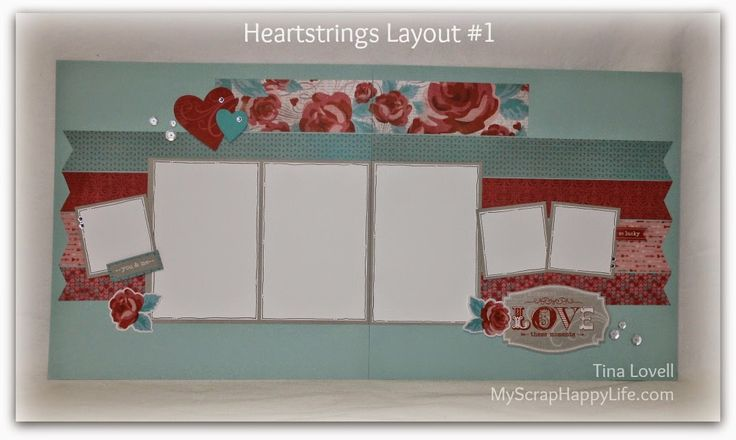 My Scrap Happy Life: Heartstrings 6-Page Scrapbook Layout kits now Available