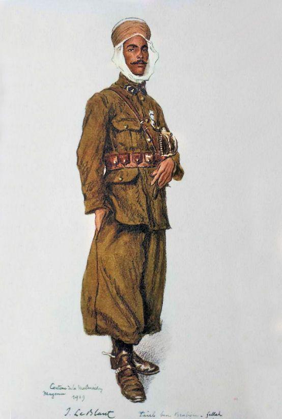 Les troupes coloniales en Rhénanie |   TAIEB Ben Brahim, Fellah, Souk Ahras, Algérie 1er régiment de spahis, Cantine de la Malmaison, Mayence, 1919