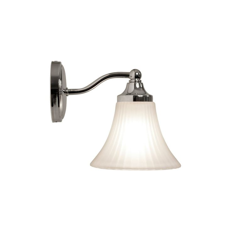Fluted Glass Bathroom Wall Light  Ref: MIK0506  RRP: £66.38  Our Price: £55.38 inc VAT