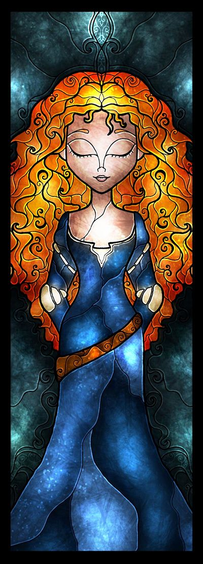 The Brave One Art Print (Stained Glass Idea for Daughters Bathroom)