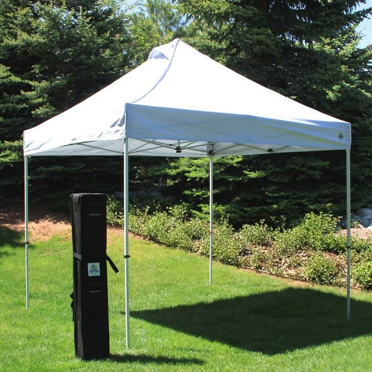 UnderCover 10 x 10 ft. Super Lightweight Aluminum Instant Canopy with Sidewall Enclosure - UCC021-1