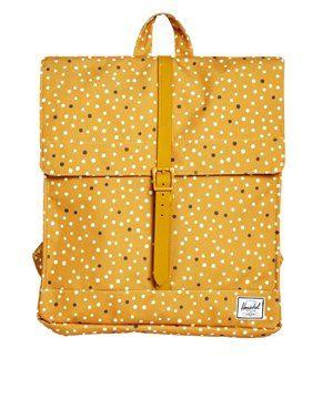 Herschel City Backpack in Polka Dot
