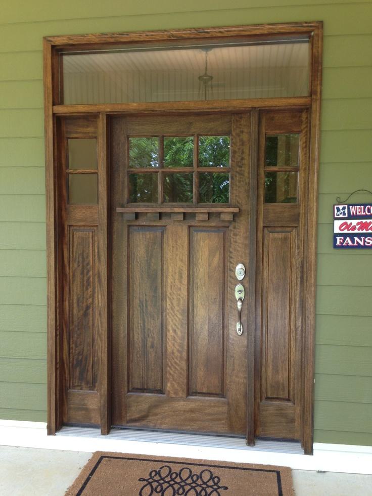 Our front door craftsmen style apex builders for Front door styles