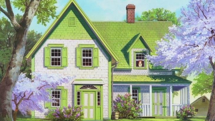 빨간 머리 앤이 사는 초록색 지붕 집