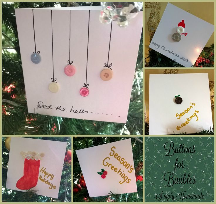 Homemade Christmas Cards http://simplyhomemadeblog.com/2015/12/13/homemade-christmas-cards/