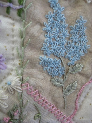 Crazy Quilt Stitches | Quilting / From the Crazy Quilt Stitches book but using ribbon ...