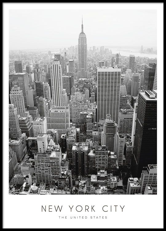Black and white New York print.
