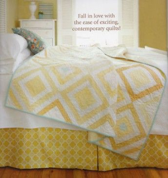 Yellow and white contemporary quilt. Book: Fresh Impressions by Allison Jane Smith, 2011.