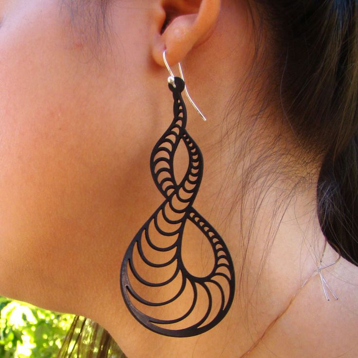 Brinco VibraTun   #rubber_jewelry #jóias_de_borracha