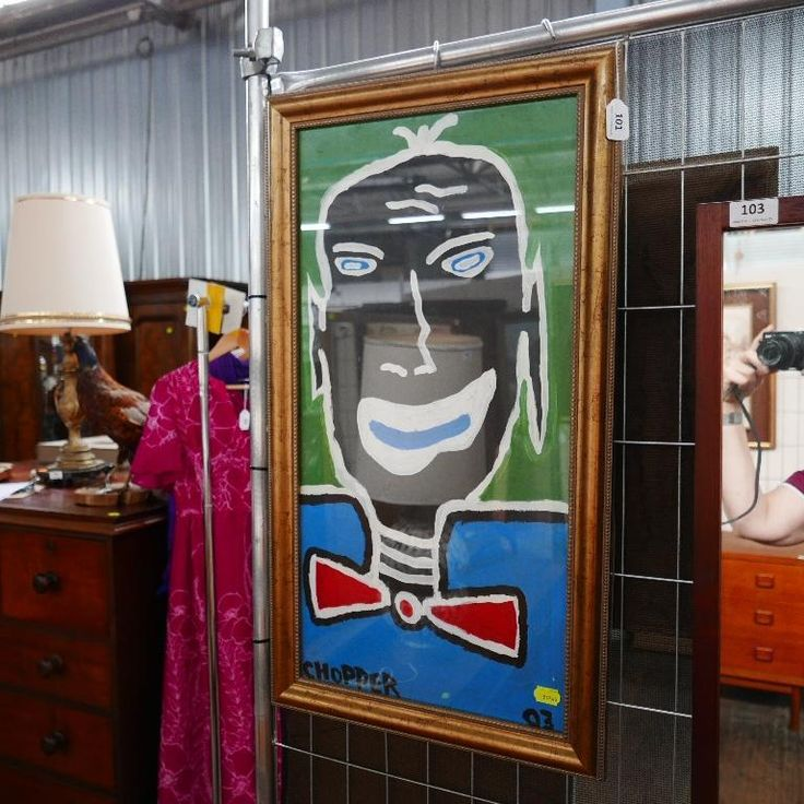 Chopper Read oil painting titled 'Voodoo Girl' available at our collectables auction.