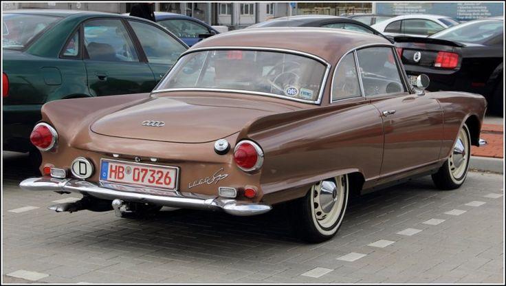 Auto Union 1000 Sp, Heckansicht. Gesehen am Rande des US-car Treffens in Bremerhaven am 15.04.2012.